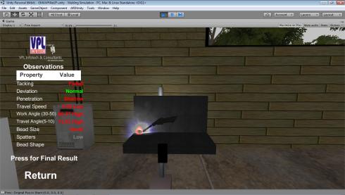 VPL Welding Simulator